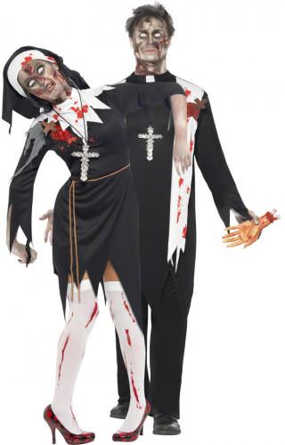 Halloweenkostuum religieus zombiekoppel