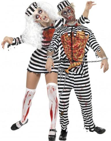 Halloween Zombiegevangeniskostuum voor een koppel