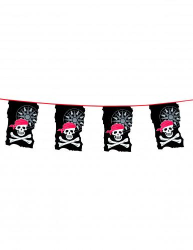 Slinger met doodskopsvlaggetjes
