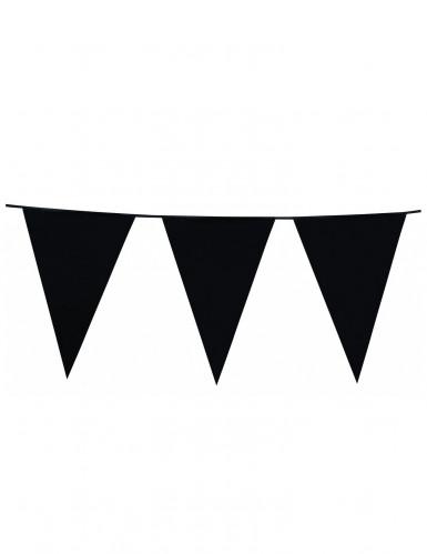 Slinger met zwarte vlagjes