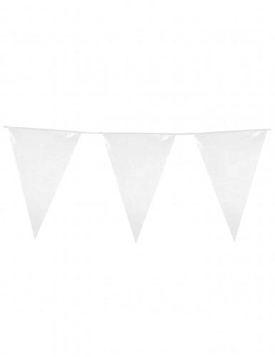 Witte vlaggetjesslinger