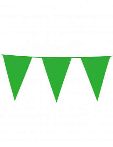 Groene vlaggetjesslinger