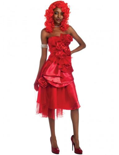 Rood Rihanna™ kostuum voor vrouwen