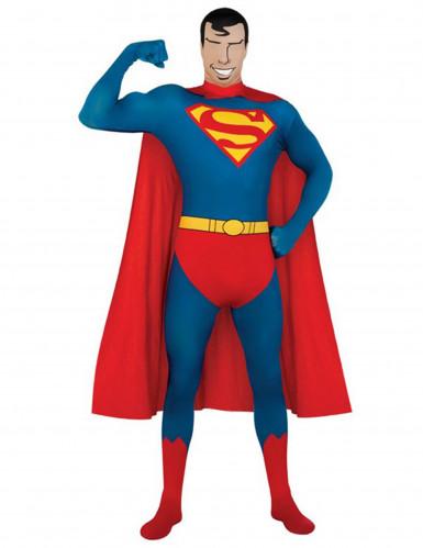 Kostuum van een tweede huid van Superman™ voor volwassenen