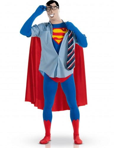 Kostuum van een tweede huid van Superman™ voor volwassenen-1