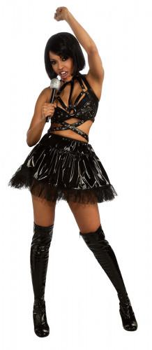 Zwart Rihanna™-kostuum voor vrouwen