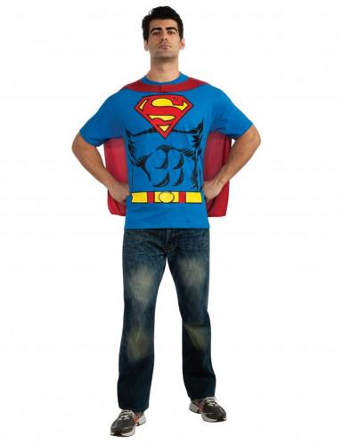 Superman™ kostuum voor volwassenen t-shirt