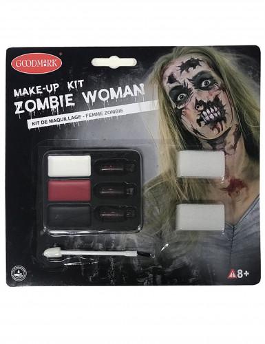 Zombiemake-up kit voor vrouwen Halloween-1