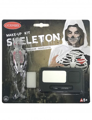 Skeletmake-up kit voor Halloween