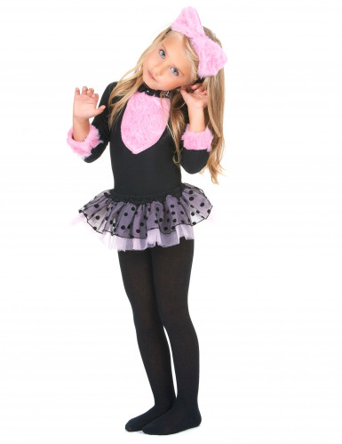 Roze tutu katten kostuum voor meisjes-1