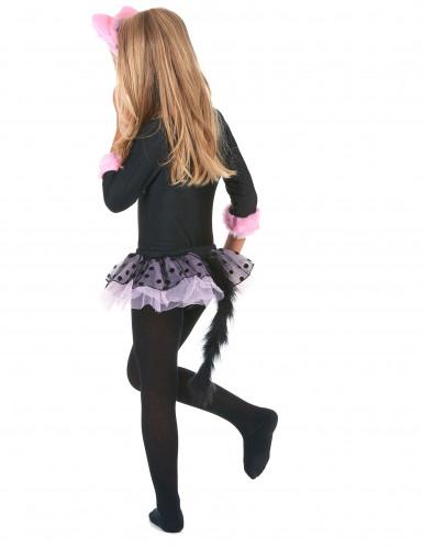 Roze tutu katten kostuum voor meisjes-2