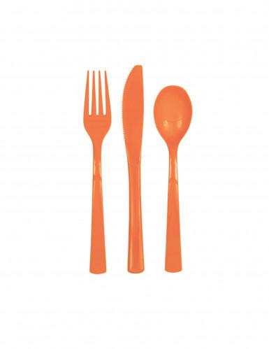 Bestek in oranje plastic