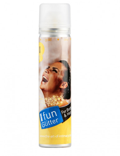 Goudkleurige spray voor haar en lichaam
