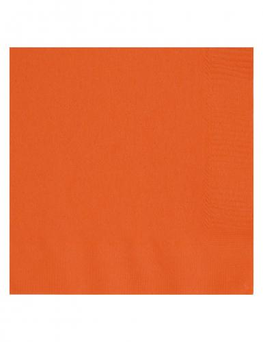 20 oranje papieren servetten