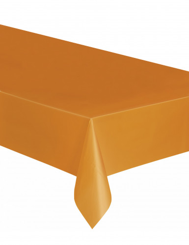 Plastic oranje tafelkleed