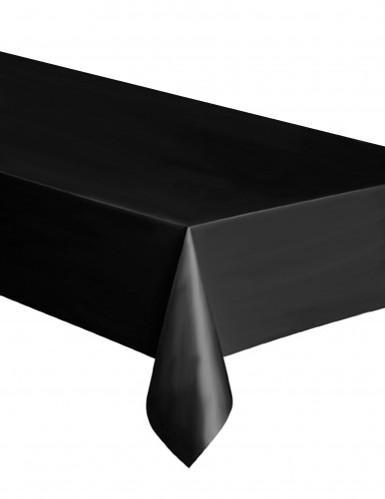 Zwart plastic tafelkleed