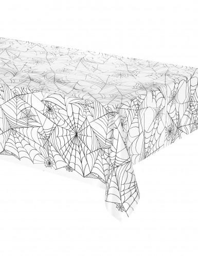 Plastic Halloween tafelkleed met spinnenweb