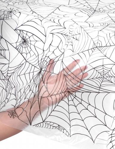 Plastic Halloween tafelkleed met spinnenweb-1