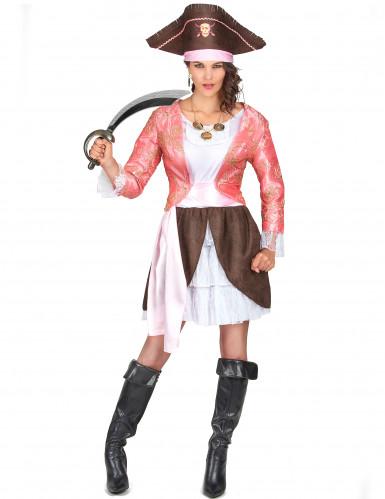 Roze piratenpak voor vrouwen
