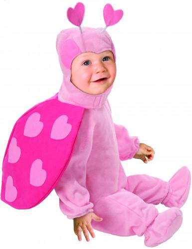 Roze lieveheersbeestjes kostuum voor baby's