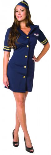 Sexy stewardesskostuum voor vrouwen