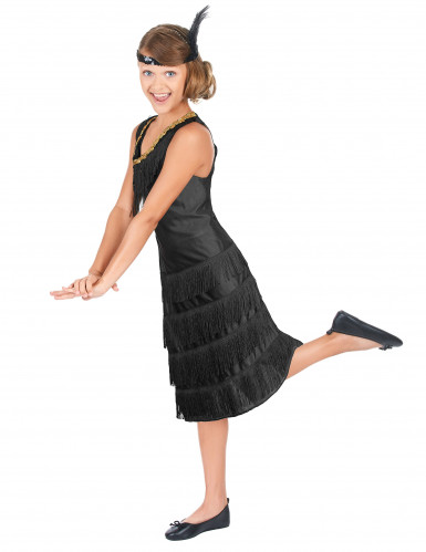Zwart Charleston kostuum voor meisjes-1