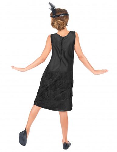 Zwart Charleston kostuum voor meisjes-2
