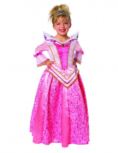 Klassiek roze prinsessenpak voor meisjes
