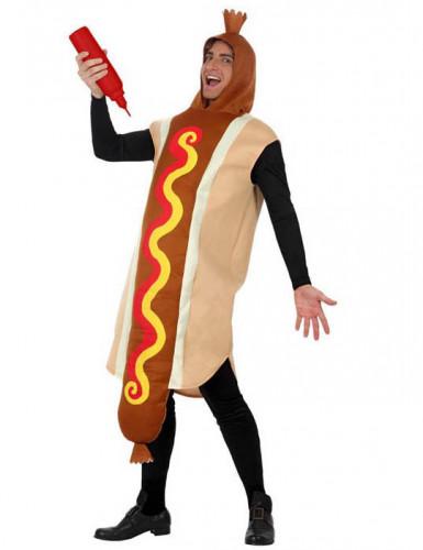 Hotdog-kostuum voor volwassenen