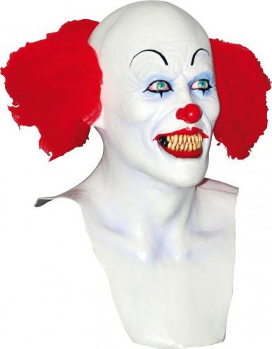 Masker van een angstaanjagende witte clown voor volwassenen