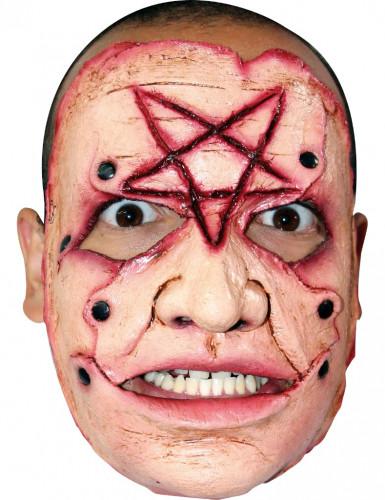 Monster van een moordenaar met een pentagram voor volwassenen Halloween