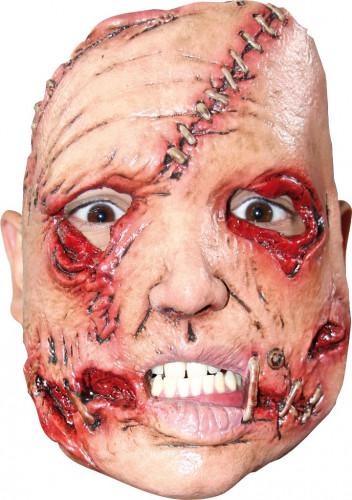 Masker van een moordenaar met een misvormd gezicht voor volwassenen Halloween