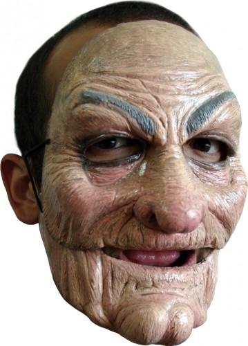 Beweegbaar oude man masker van latex voor volwassenen