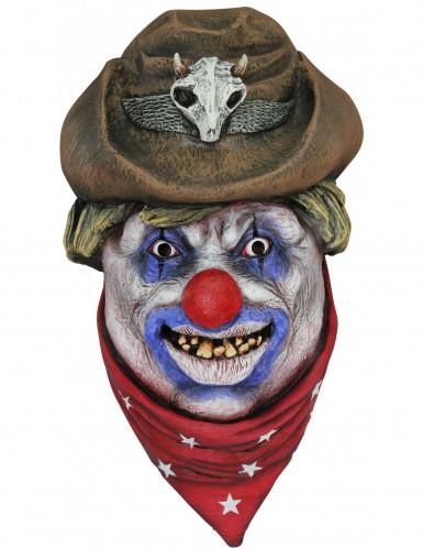 Masker van een cowboyclown voor volwassenen Halloween
