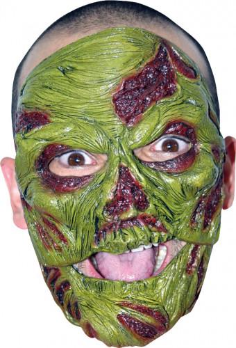 Masker van een groene zombie voor volwassenen Halloween