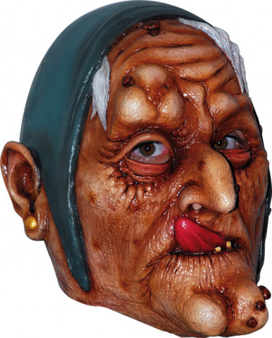 Masker van een oude heks voor volwassenen Halloween