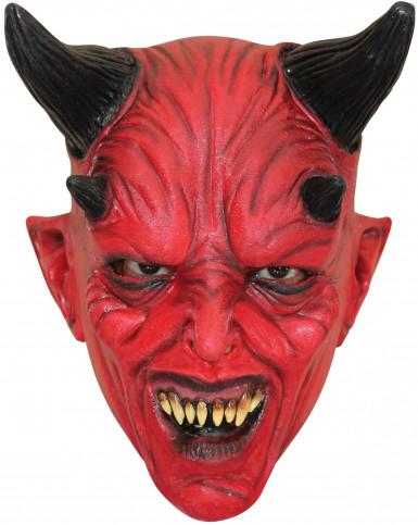 Masker van een rode duivel voor volwassenen Halloween