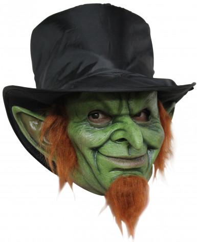 Masker van een boosaardige leprechaun voor volwassenen Halloween
