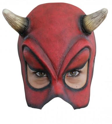 Halfmasker van een sexy Halloween duivel voor volwassenen
