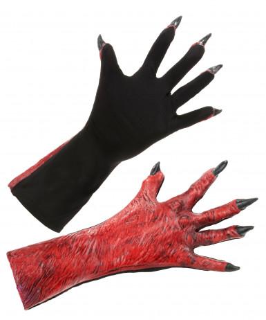 Rode duivel handschoenen voor volwassenen
