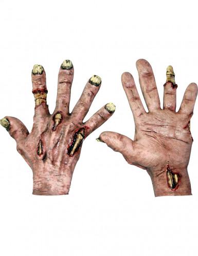 Zombiehandschoenen voor volwassenen Halloween
