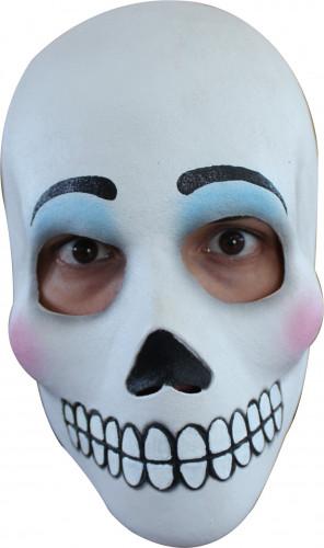 Zwart-wit Dia de los Muertos masker