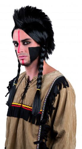 Indianenpruik met vlechten voor volwassenen