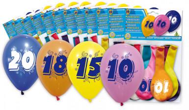 10 ballonnen met leeftijdsopdruk 40