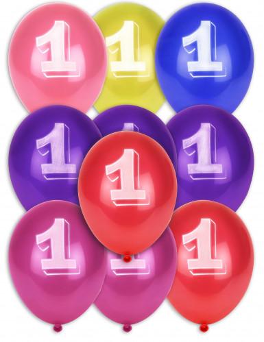 10 ballonnen cijfer 1