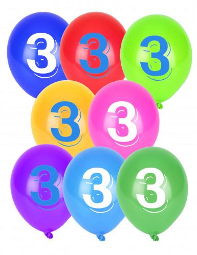 10 ballonnen cijfer 3
