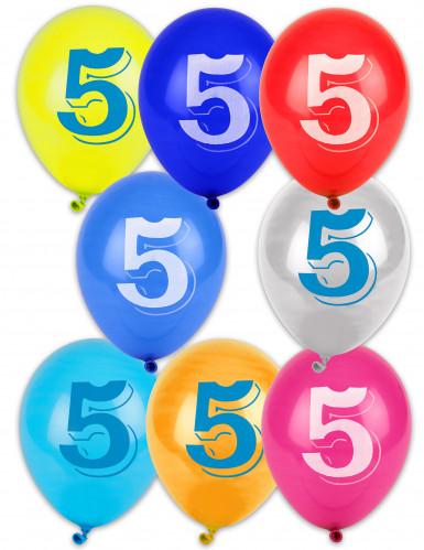 10 ballonnen cijfer 5