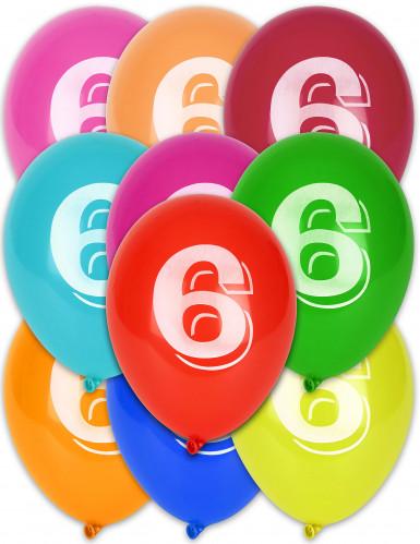 10 ballonnen cijfer 6