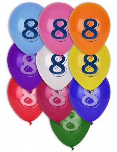 10 ballonnen cijfer 8