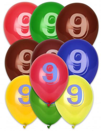 10 ballonnen cijfer 9